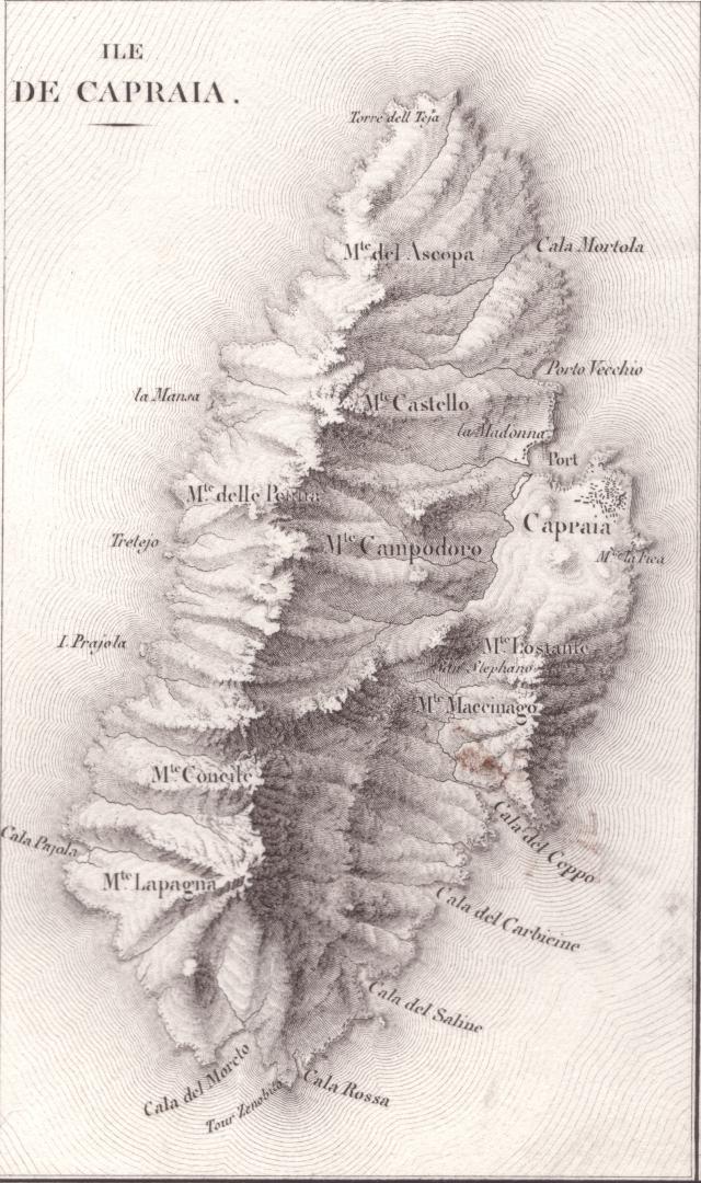 Carte topographjque de l'Arcipel Toscan - 1822