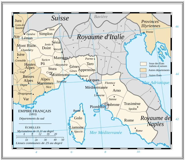 Drioux e Leroy - Les départements du Sud du 1er Empire Francais (1811)