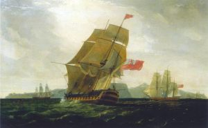 HMS_Diadem_at_capture_of_Good_Hope-Thomas_Whitcombe