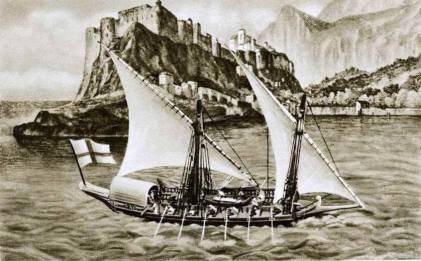feluca genovese XVIII secolo